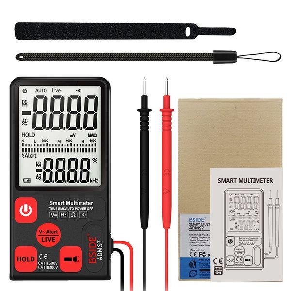 Ultra-ince Taşınabilir Dijital Multimetre Test ADMS7 Geniş LCD 3-Line Voltmetre Ile Ekran Voltmetre NCV Direnç Multimetre