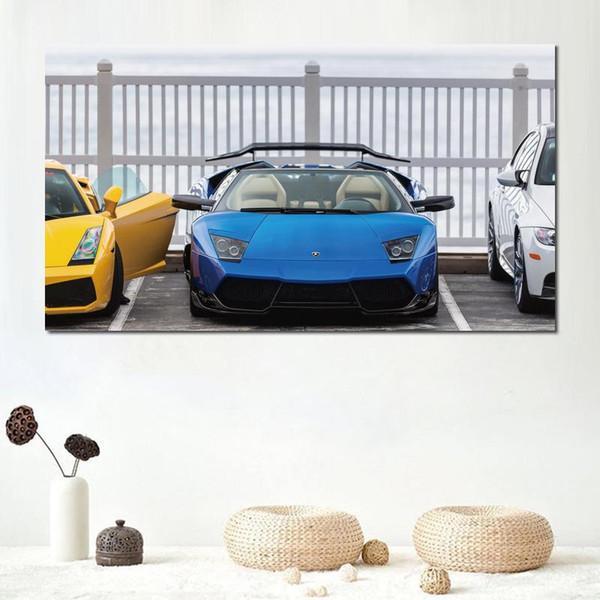 impressions sur toile peinture pour salon décoration lamborghini roadster gallardo