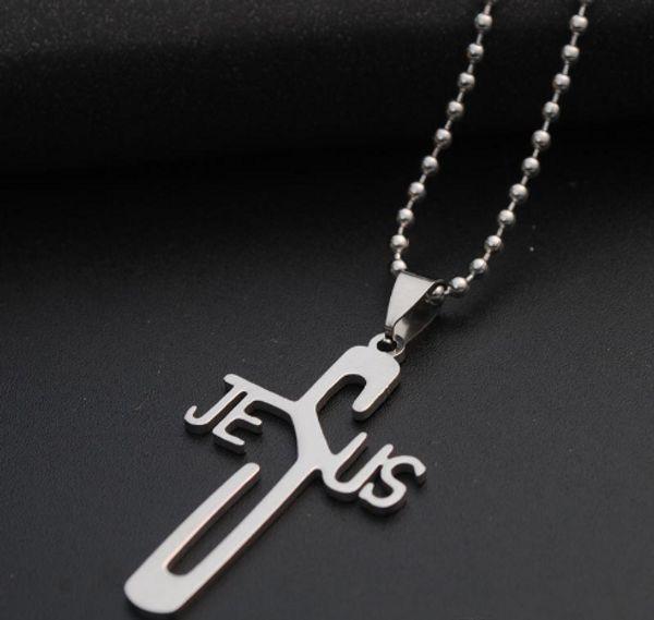Envoi gratuit JI-313 Marque Lien Chaîne Homme collier En Acier Inoxydable Pendentif Colliers Bijoux Cadeau Choker Wholes