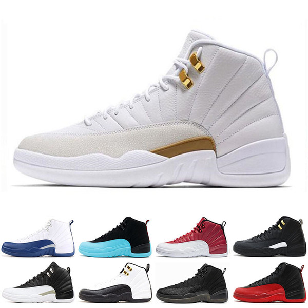 2019 Wholesale 12 12s mens Basketball shoes Taxi Gym red THE MASTER Bulls FLU GAME GAMMA BLUE FRENCH BLUE men Sports Sneakers