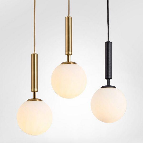 promo code e6051 31529 Latest Design Rain Drop Hanging Lamp Led Black Copper Metal Milky White  Glass Balls Pendant Lights Hanging Light Shades Bedroom Hanging Lights From  ...