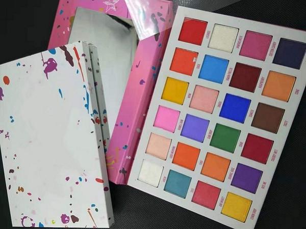 faire de la marque maquillage jusqu'à J Maquillage des yeux récent palette 24 couleurs de fard à paupières Palette Ombre à paupières mat livraison gratuite