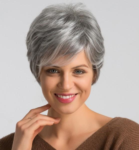 Short PiXie Cut Lace Front Wig Straigh 10A Grey Color Chinese Virgin Human Hair Full Lace Wig for Black Woman Free Shipping