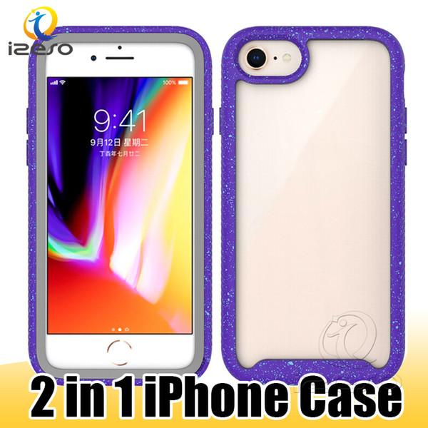 Pour iPhone 11 Pro Max XS X Case PC TPU anti-drop cas de cellulaires pour Coolpad G7 E6 héritage MOTO E5 plus couverture arrière