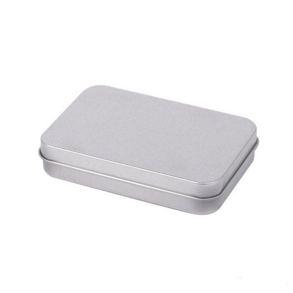 2019 Contenedores con bisagras rectangulares con tapa Metal Mini caja de lata vacía Resistente al desgaste Organizador de almacenamiento Venta caliente