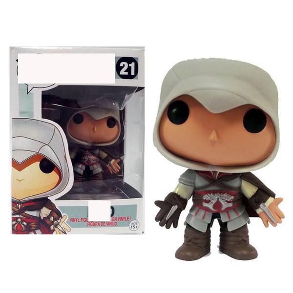 Cute FUNKO POP EZIO 21# Assassins Creed Action Figure Collectible Model Toy