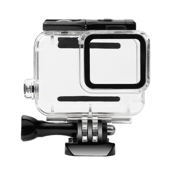 Waterproof Protection Housing Case Diving 30M Protective Cover For GoPro Hero 7 White/Sliver Version with glass lens cap(no with camera)
