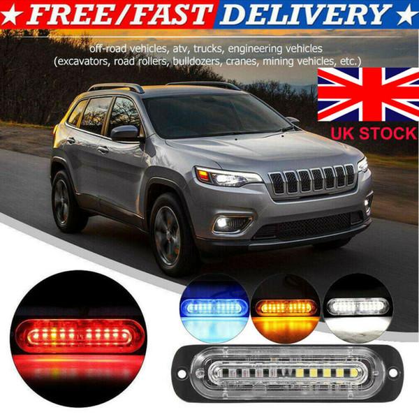 LED Araç Dash Strobe Işıklar Flaş Acil Uyarı Lambası Polis Ampüller Çok Renkli