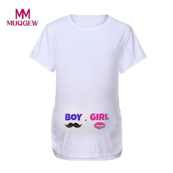 clothes for pregnant women Women Maternity Short Sleeve Cartoon Letter Print Tops T-shirt o-neck Pregnancy Clothes summer #SS