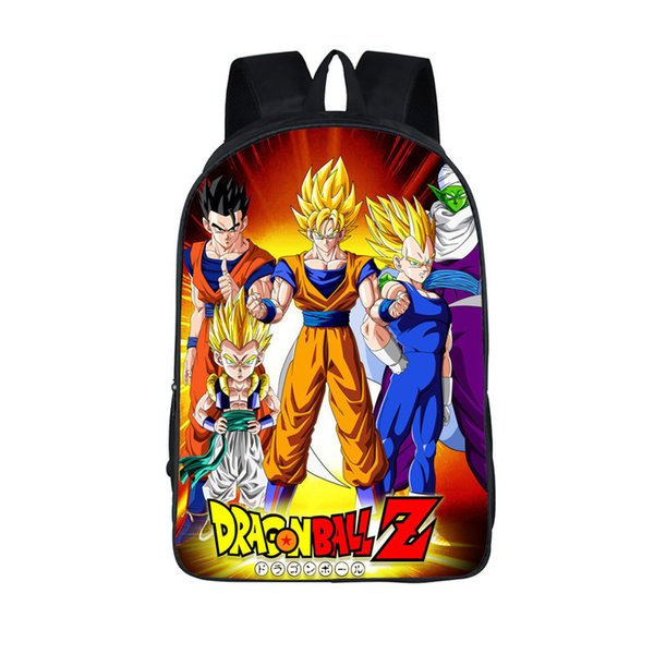 Anime Dragon Ball Zaino delle ragazze dei ragazzi di scuola Borse Super Saiyan Goku Sun Zaino per gli adolescenti per bambini giornalieri sacchetti regalo Zaini