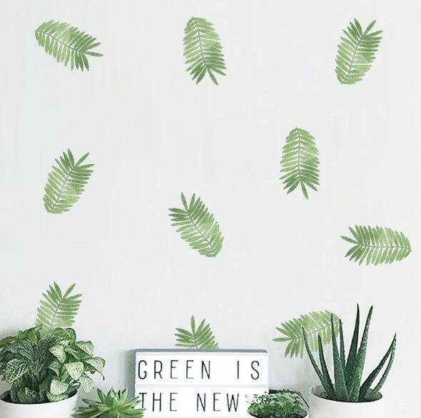 Inkjet wall stickers tropical green plant kindergarten environment layout party decoration DIY stickers creative fashion home