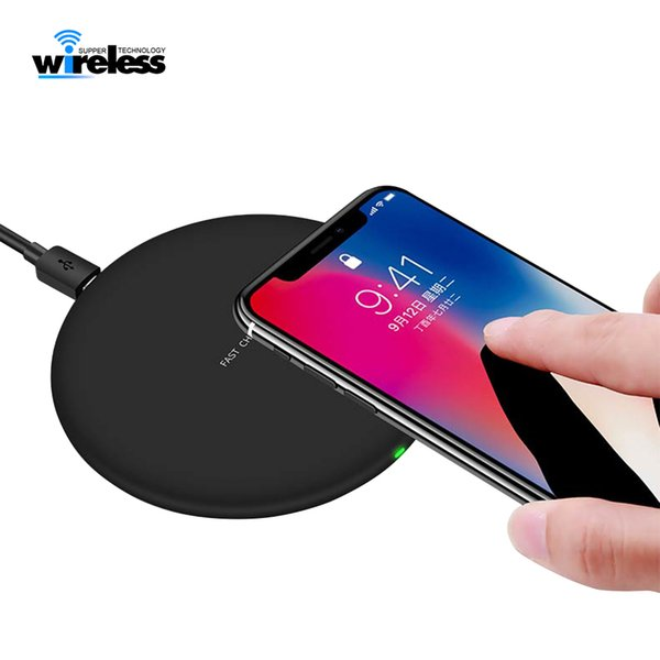 best selling For qi-enable smartphones wireless charger Fast Quick Qi Charger For s9 s10 wireless charger charging pad
