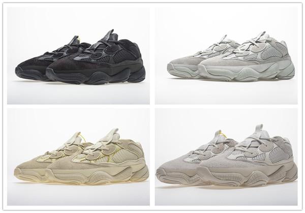 2019 New Salt 500 Kanye West Кроссовки с оригинальной коробкой 2019 Дизайнерская мужская обувь