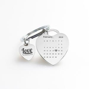 Couple keychain Fashion Lovers keychains letter print Love you with all my heart Charms Key Chain for Valentines Gift GGA1526
