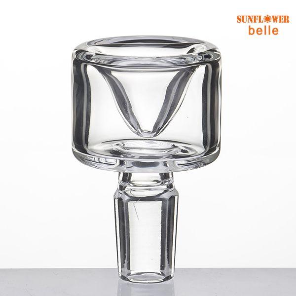 New bacia de vidro com Limpar Joint 14 milímetros 18 milímetros Masculino OD Joint 33 milímetros de tubos de vidro Bongs água 764