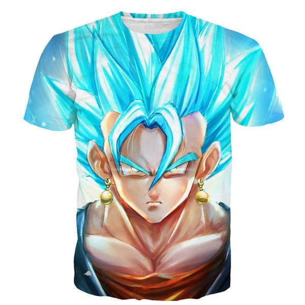 Compre Verão Dos Homens Das Mulheres Dragon Ball Camiseta Naruto 3d T Shirt Dos Desenhos Animados Anime Dragon Ball Imprimir Mangas Curtas T Shirt De