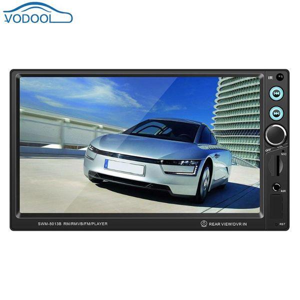 7-дюймовый 2 Din Car Stereo MP5-плеер Bluetooth MP5 MP3 Музыка Видео плеер FM-радио USB AUX Автомагнитолы Мультимедиа Авторадио автомобиля DVD