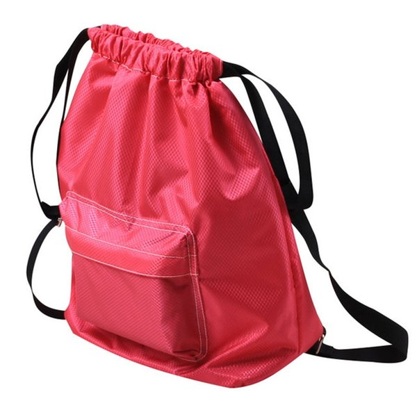 Candy Color Beach Dry Wet Separation Shoulder Backpack for Teenage Girls Female Summer Swimming Storage Bag #159313