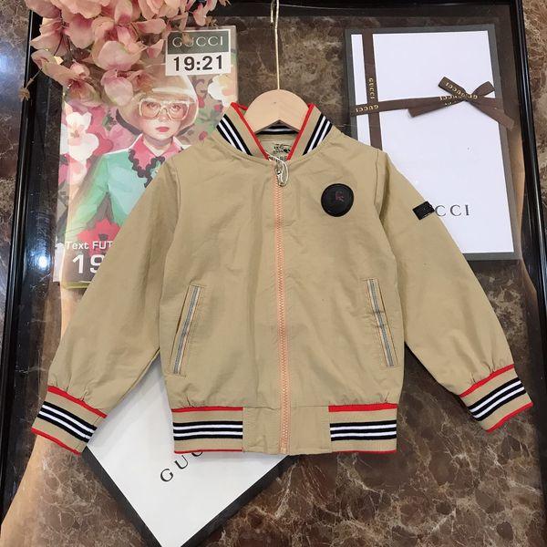 Çocuk ceket çocuklar tasarımcı giyim erkek kız renk eşleştirme iplik ceket çizgili renk eşleştirme tasarım dokuma pamuklu ceket