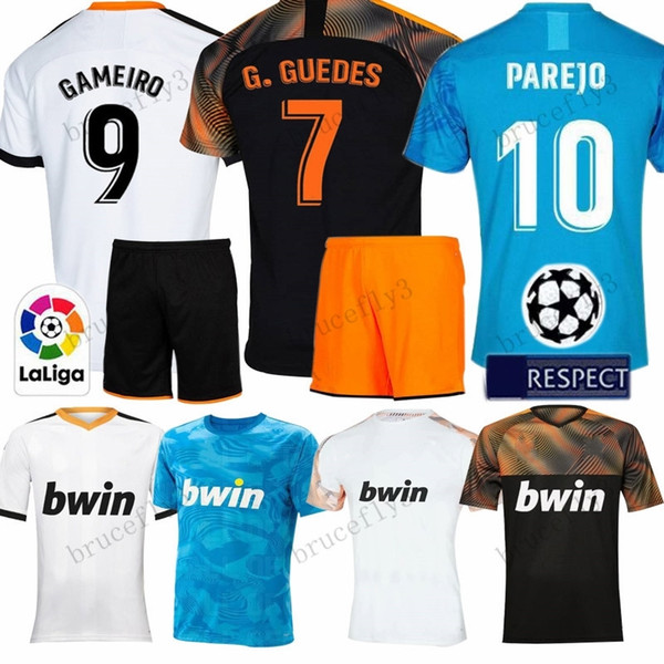 pretty nice e7e9d b55f0 2019 2019 2020 Valencia CF Soccer Jersey Kids Kit Home Away Third GAYA  PAREJO GAYA VIETTO GUEDES ZAZA G.GUEDES RODRIGO Valencia Football Shirt  From ...