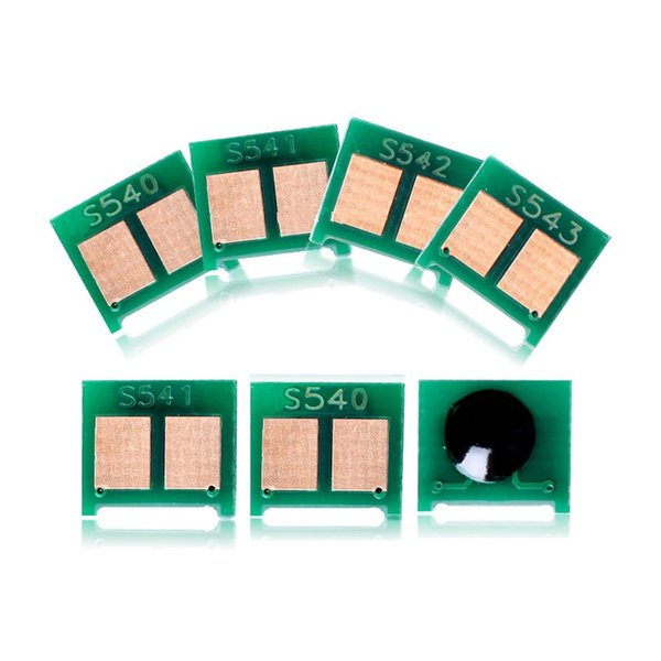 16 Шт. CB540A CB541A CB542A CB543A Чип-картридж с тонером, совместимый для HP Color laserJet CP1215 CP1518 CM1312nfi CM1312 CP1517 CP1519
