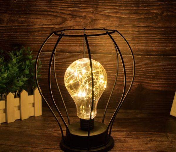 Neue minimalistische kupferdraht lampen ins mädchenzimmer schlafzimmer bar dekoration batterie lampenständer typ kleines nachtlicht