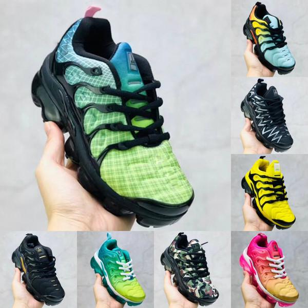 Kutu ile Çocuklar Ayakkabı TN Artı Tasarımcı Spor Koşu Ayakkabıları Çocuk Boy Kız Eğitmenler Tn Sneakers Klasik Açık Toddler Ayakkabı 24-35