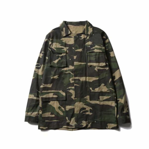 Giacca da uomo in Europa e negli Stati Uniti tendenza marchio di design mimetico giacca casual da uomo