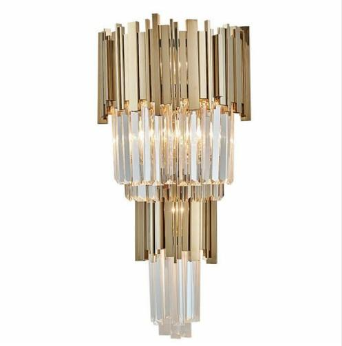 Post-modern Crystal Light Luxury Wall Lamp Bedroom Bedside Lamp Hotel Stairway TV Background Wall LED Wall Lamp LLFA