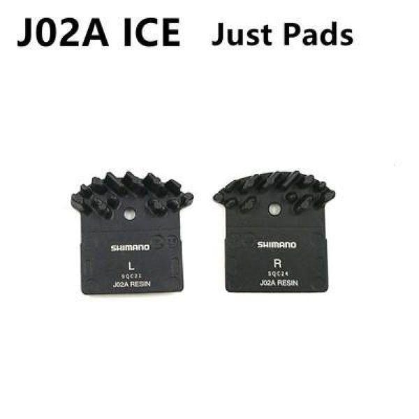 1 par SHIMANO J02a Pastillas DEORE XT SLX DEORE J02a Aleta de enfriamiento Ice Tech Pastilla de freno MTB Bicicleta M785 M675 M7000 M8000 M9000 M9020 M6000