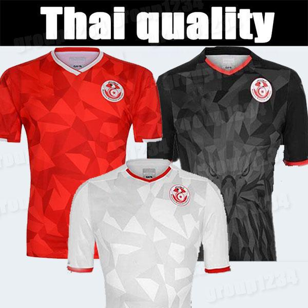 top popular 19 20 Tunisia national team Soccer Jerseys 7 Msakni 10 Khazri 23 Sliti Wahbi Khaoui FAKHREDDINE BEN YOUSSE HAMZA Custom Red Football Shirt 2019
