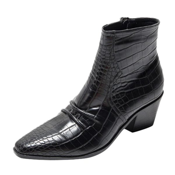 women fashion boots short tube high-heele snakeskin short boots side zipper boot 2020 ladies fashion shoes new zapatos #s