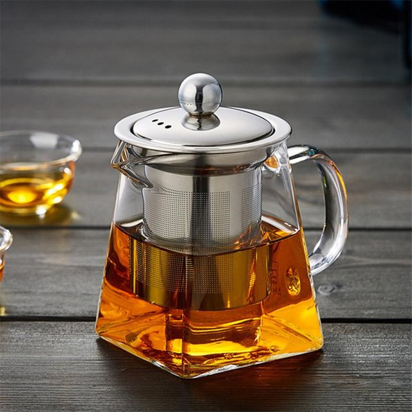 best selling Hot sales Glass Teapot With Stainless Steel Infuser And Lid For Blooming And Loose Leaf Tea