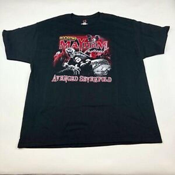 Mens Avenged Sevenfold 2014 Концертный Тур Футболка Двухсторонний BlaBrand XL Mayhem