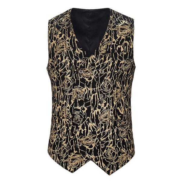 Printemps et Automnes Leopard Men Leisure Club Costume Veste Vestes Manteaux jeunesse Mode Gilet Vêtements pour hommes Hauts formels d'impression