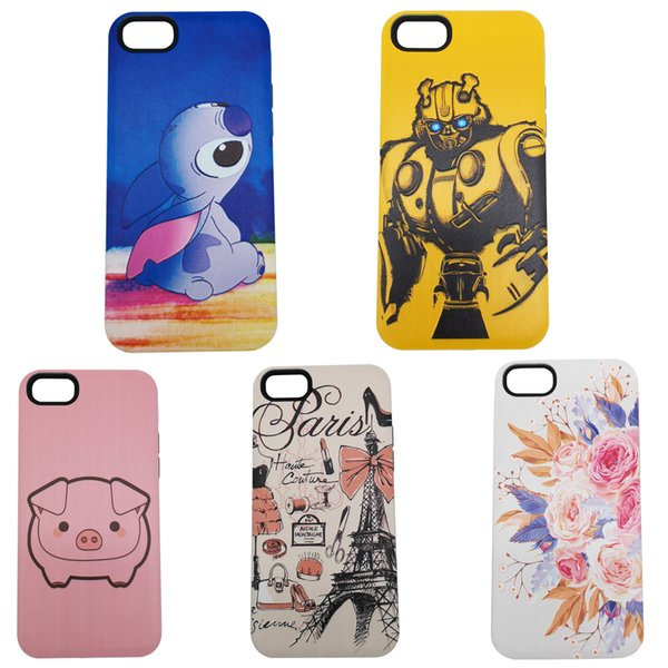 Funda de silicona con dibujos animados en relieve 3D 2en1 para IPHONE 7 / 8PLUS XR XS MAX MATE 20 S9 S10