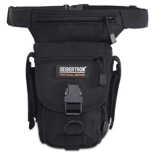 Seibertron Waist Bags Waterproof MOLLE Tactical Waist Bags Pocket Leg Bag Cross Over Leg Rig Outdoor Hiking Bag Kids Handbags CCA11127 10pcs