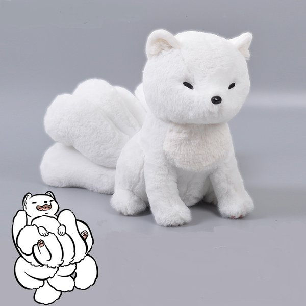 new brand anime Deviant doll cute fox bolster child sleeping stuffed toys cartoon animal kids dolls No.507