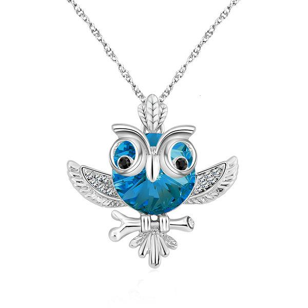 Heat Pin New Pattern Korean Edition Lovers Owl Necklace Adornment Women's Style Hundred And Up Glittering Pendant Ornament