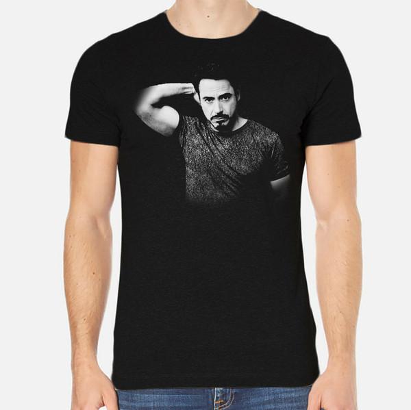 Robert Downey Jr. New Herren T-Shirt Schwarz Bekleidung 3-A-039