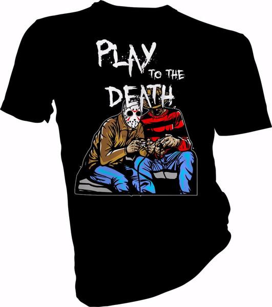 Jogar para a Morte, Dia das Bruxas, Horror, Pesadelo Adulto T-Shirt dos miúdos Camisetas Impressão Engraçado T-Shirt Hipster Verão Top Tee