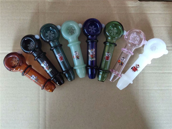 Thick Pyrex Colorful Glass Oil Burner Pipe Glass Hand Pipes Bubbler Dots Incense Smoking Accessories Cheap Price