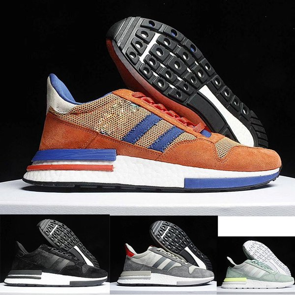 top popular HOT ZX500 RM Running Sneakers Shoes for Unisex trainers OG Dad Mens luxury Sports Fashion women Shoes Female fashion shoes size 36-45 2019