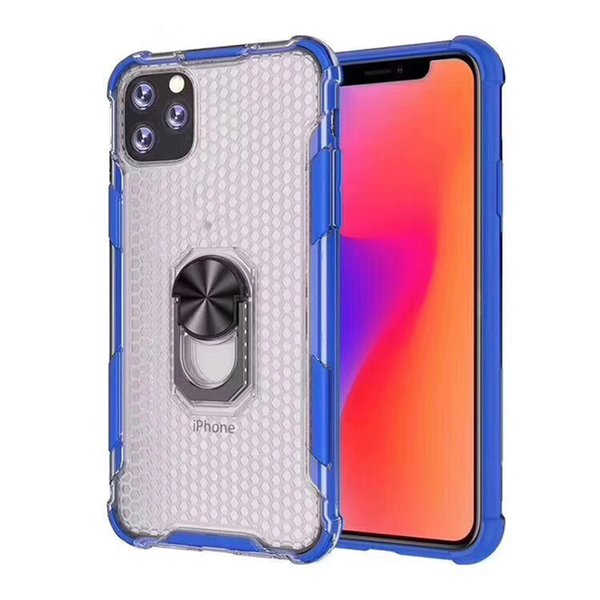 Luxury Plating clear TPU+PC Ring Holder Multifunction Bracket For iPhone 6 7 8 xs max XR Transparent Cover for samsung note 10 huawei p30