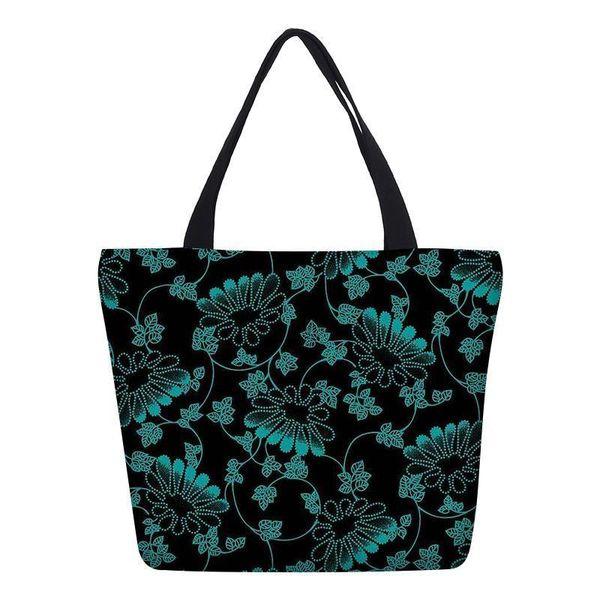 Veevanv Mode Géométrique Fleurs Impression Femmes Hangbags Fille School Bookbag Toile Sacs À Bandoulière Femme Casual Fourre-Tout Sac Lady