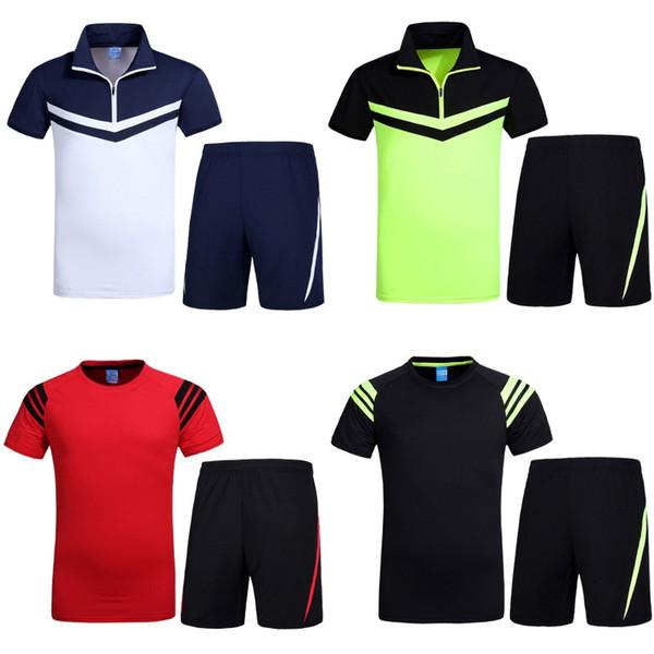 venta caliente ocasional de fútbol desgaste de secado rápido ropa de deportes de pelota de bádminton camiseta de la camiseta de manga corta de baloncesto camiseta
