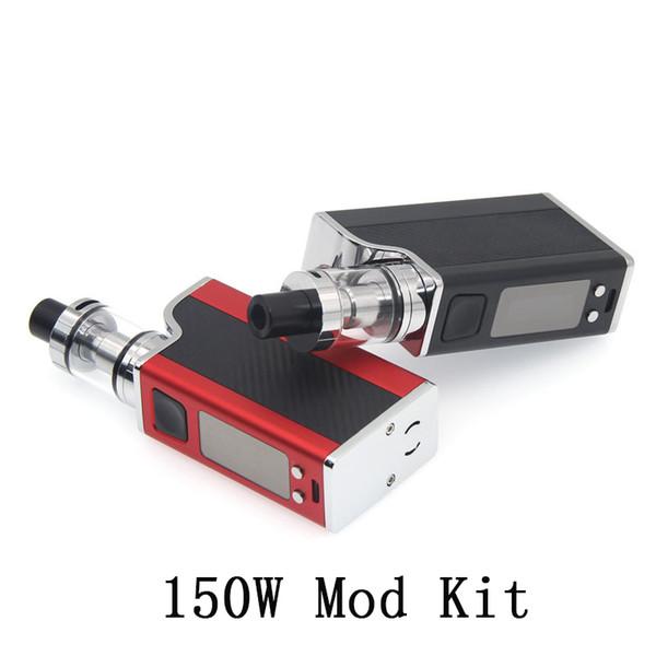 Huge Vapor Vape Mod Starter Kits 150W 1500mAh E Cigarettes Vaporizer Box Mod Kit 0.91 inch OLED Screen TC mode 510 thread e cig Kit