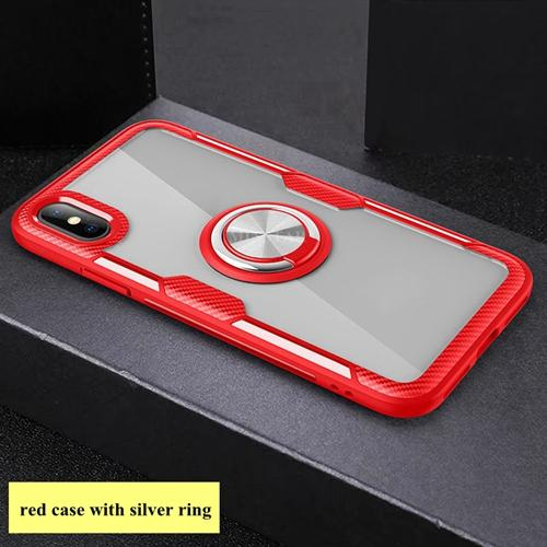 #2 red case with silver ring