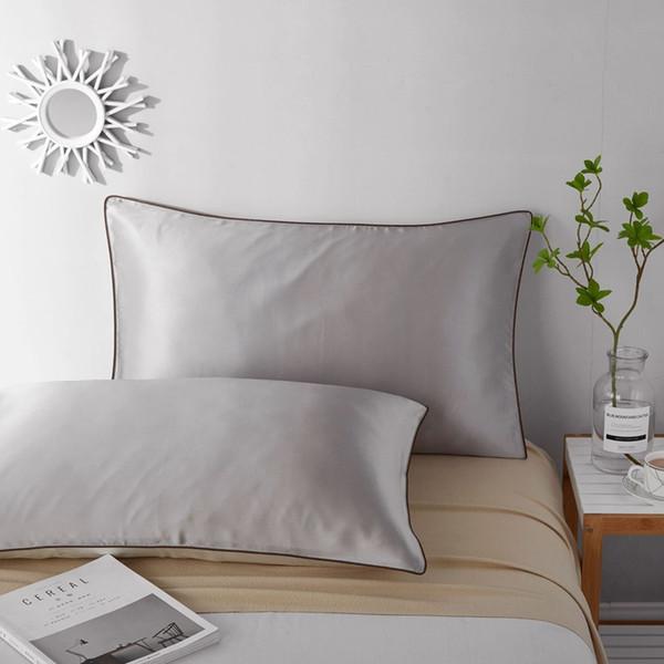 1 pc funda almohada 48x74cm Silk Pillowcase one Side 100% Nature Top Grade Silk Single Pillow case for Sleep and Skin Care