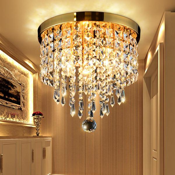 Modern Chrome / Gold plating led Ceiling light Lustre Living Room Cristal Lustre Chandeliers Lighting Pendant Hanging Ceiling lamp Fixtures